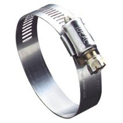Ideal 57 Series 201/301 Stainless Steel Worm Drive Clamp, 1/2'' Width, 3'' - 5'' Diameter, (Pack of 10)