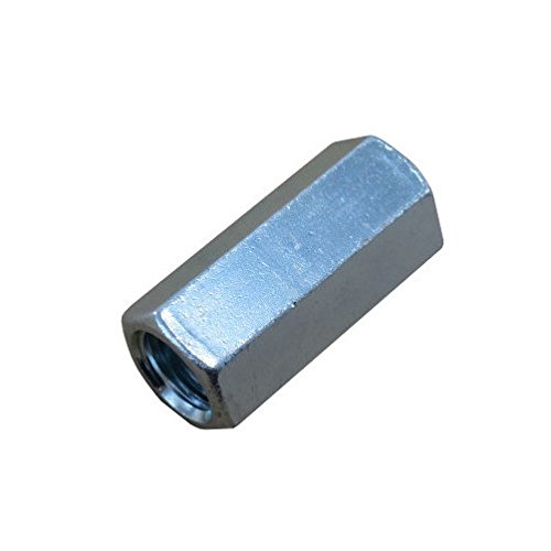 Pack of 12 1//2-13 X 3//8-16 Zinc Plated Reducing Threaded Rod Couplings