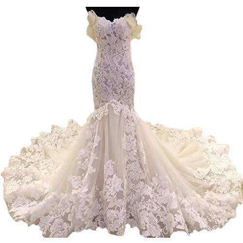 456a7b5f6e4 Dimei Lace Mermaid Wedding Dress for Bride Luxury Sweetheart Bride Dress  Wedding