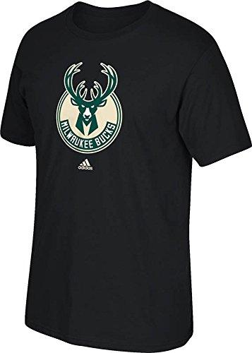 NBA Milwaukee Bucks Men's Full Primary Logo Tee, XX-Large, Black