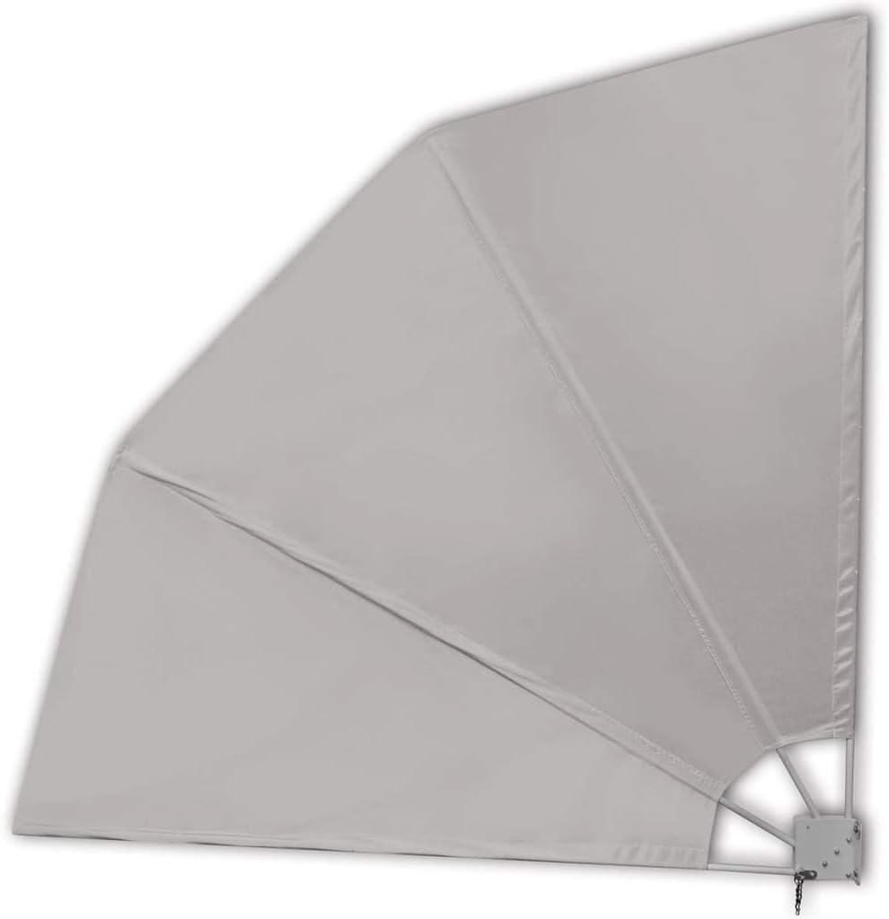 vidaXL Tenda Laterale Patio Pieghevole Terracotta 160x240cm Parasole Tendalino