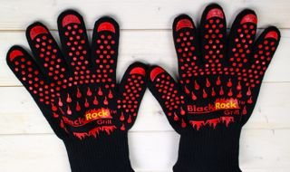 Heat & Temperature Resistant Gloves 500C/932F BBQ Aga Oven Silicon Safety by Black Rock Grill