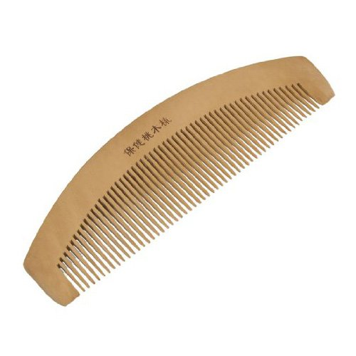 SODIAL(R)6.5'' Length Dual Head Wooden Toothed Anti-static Hair Comb For Women
