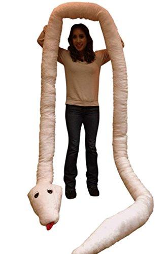 American Made Giant Stuffed Snake 18 Feet Long Soft Pink Big Plush Serpent by Big Plush (Image #5)
