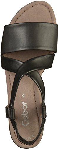 Donna Gabor con Cinturino Casual 27 Black Caviglia alla Sandali xHqvfnPHwY