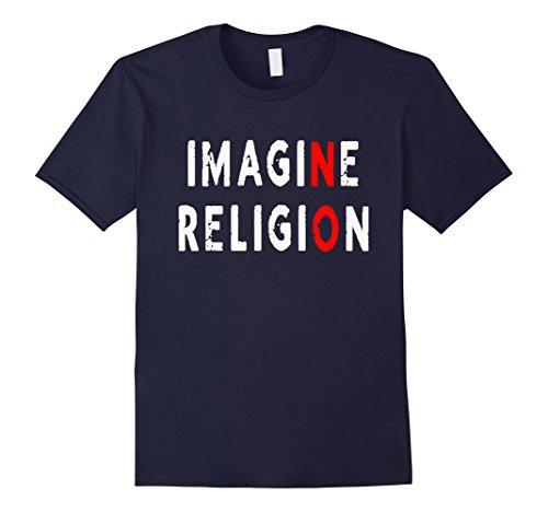 Men's Imagine Religion T-Shirt Funny Atheist Tee Atheism XL (Funny Religion Tee T-shirt)