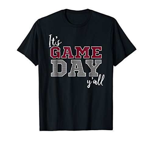 It's Game Day Ya'll Houndstooth - Houndstooth Mens Shirt