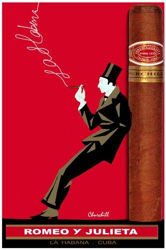 Poster. Romeo y Julieta, Cuban Cigar poster. Deccor with Unusual ima