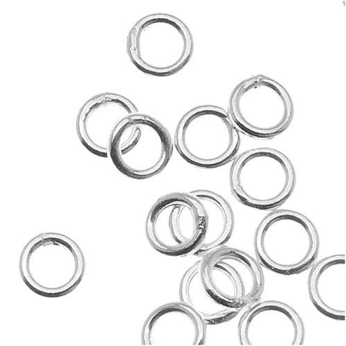 50 Piece Sterling Jump Rings, 6mm, 20.5-Gauge, Silver.925 Sterling Silver 6mm Closed Jump Rings 20.5 GA ()