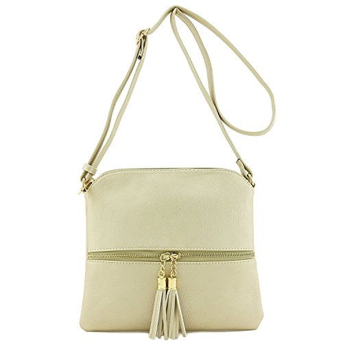 Color with Bag Americana Body Cross Gold Block Tassel RnqwS