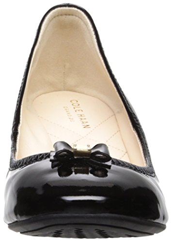 Bow Mini Pumps Tali Cole Leather Black Haan Patent Wedge Women's AtqnIwp