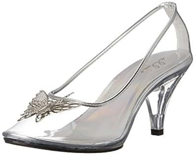 Ellie Shoes Womens 305-CINDER 305-cinder Transparent Size: 6