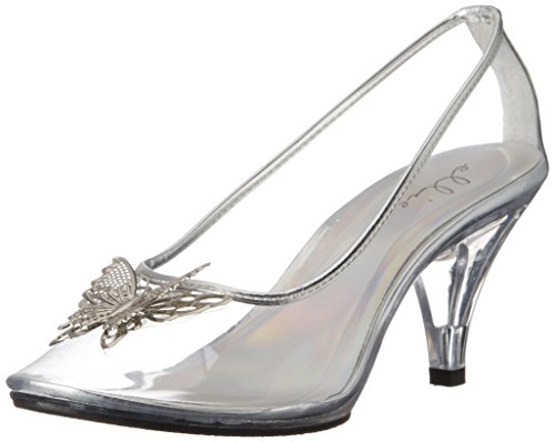 Ellie Shoes Women's 305-CINDER, Clear, 9 B US