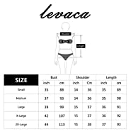Levaca Womens 3/4 Sleeve Off Shoulder Lace Patchwork Loose Casual Dress Extender