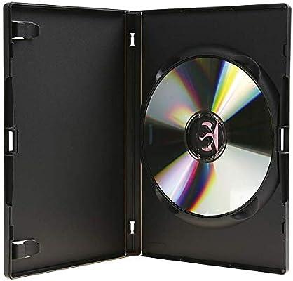 10 Estuches/Fundas PLASTICO Negros para DVD/Ref.2265: Amazon.es: Electrónica