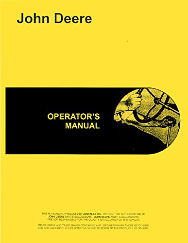 John Deere 2510 Tractor Operators - 2510 Manual