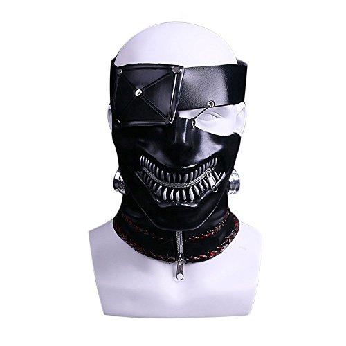 JCvCX Film Style Tokyo Cosplay Ghoul Mask Kaneki Ken Costume (60's Ken Costume)