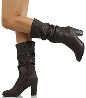 Breckelle's Women's Felicia-13 Cute Chunky Heel Calf High Boots