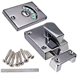 Tuersuer Easy to Assemble Nickel Drawing Chroming Bathroom Toilet Door Lock Indicate Door Bolt