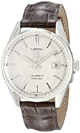 TAG Heuer Men's WAR211B.FC6181 Carrera Stainless Steel Automatic Watch with Brown Leather Band