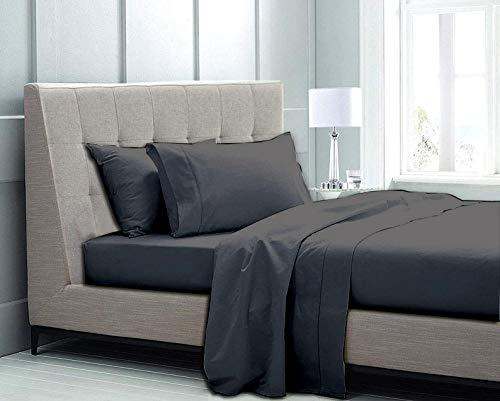 - 1000-TC 100% Cotton Sheet Pure Sheets Set, 4-Piece Long-Staple Cotton Sheets, Soft & Silky Fits Up to 18