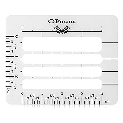 OPount Envelope Addressing Guide Acrylic Ruler Fits Wide Range of Envelopes, Sewing, Christmas Cards