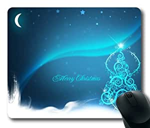 High Definition Merry Christmas Rectangle Mouse Pad by eeMuse