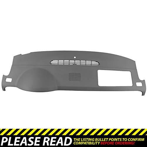 DashSkin Molded Dash Cover Compatible with 07-14 GM SUVs w/Dash Speaker in Dark Titanium ()