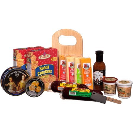 Deli Direct Wisconsin Cheese & Sausage Large Gift Basket 14 pc Basket