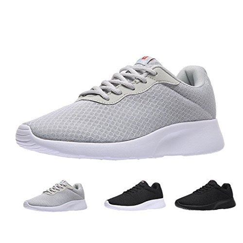 MAIITRIP Men's Running Shoes Sport Athletic Sneakers,Grey White,Size 11