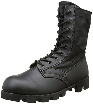 Amazon.com: Mil-Tec US Jungle Combat Boots Black: Sports & Outdoors