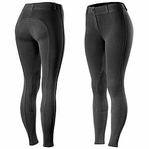 Horze Ella Women's Pull-On Knee Patch Breeches,
