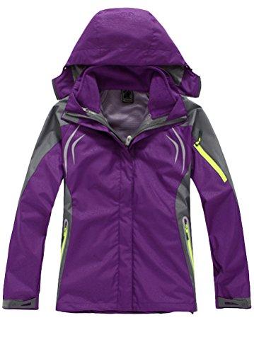 match Life Sport Chaqueta para mujer, con capucha abrigo morado