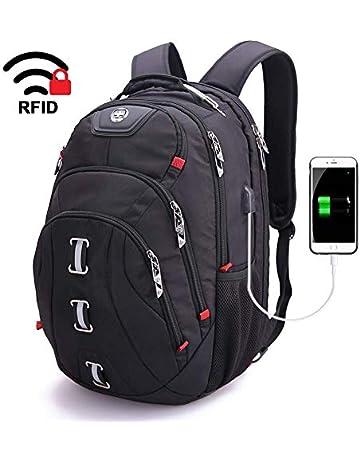 40bdd7446de8b swissdigital 30L Laptop-Rucksäcke Dauerhafte Reise Trekkingrucksäcke  Wasserfester Daypack TSA freundliche Business Tasche mit USB