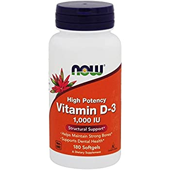 Now Foods Vit D-3 1000 IU 180 Softgels