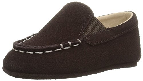 Ralph Lauren Layette Boys' Vincenzo Chocolate Loafer, Chocolate Suede, 2 M US Infant