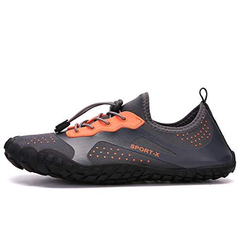 Dreamshow Ultraleicht Sport Barfußschuhe Schuhe Fitnessschuhe Outdoor 36 Trekking 46 Grau Herren Damen Aquaschuhe Rutschfest zTzUq1rw