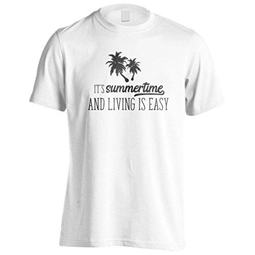 Es Ist Sommerzeit Und Livin Ist Einfach Schwarz Herren T-Shirt k893m
