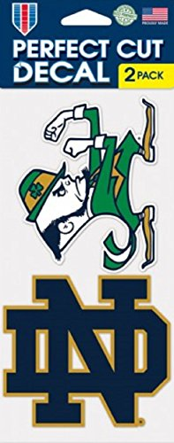 Notre Dame Fighting Irish Auto Decals 2 Pack - 4