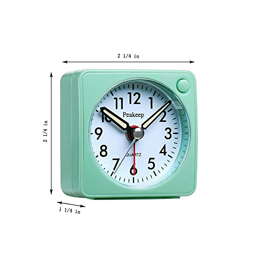 ultra small peakeep battery travel alarm clock with