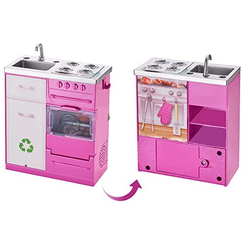 Replacement Parts for Barbie Dream-House FHY73 - Includes 1 Electronic Stove / Sink / Recycle / Oven All-in-One Set