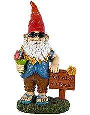 Garden Gnome Statues, Fairy Garden Ornaments, Resin Garden Santa Figurines Decor Yard Dwarf Landscape Crafts