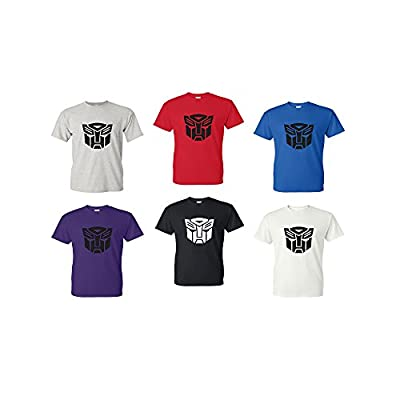 Transformers Adult T-Shirt (Red, Blue, Black, Gray, White, Purple)