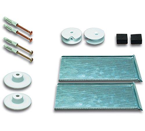 Spiegelbefestigung Druckknopfset SafecliX® 16 für Spiegel bis 1.6 m² bei 6 mm Dicke
