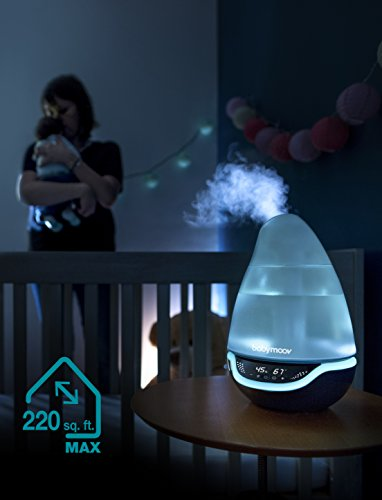 Hygro Plus Cool Mist Humidifier  3in1 Humidity Control Multicolored Night Light amp Essential Oil Diffuser  Easy Use and Care NO Filter Needed