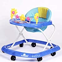Baby Walker with Adjustable Height and Toys Sky Blue