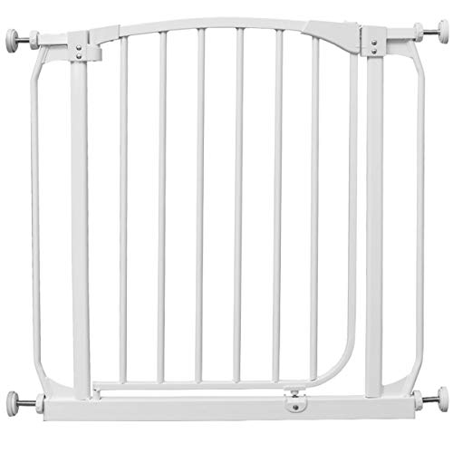 Costzon Baby Safety Gate, Easy Step Walk Thru Gate, White (with Extension, Fits Spaces Between 28.5″ to 40″) Review