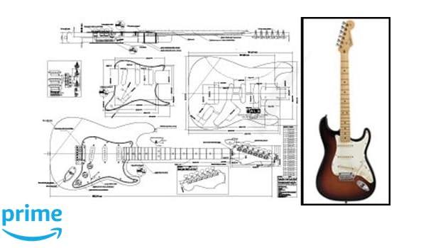Plan de Fender Stratocaster Guitarra eléctrica - escala completa impresión: Amazon.es: Instrumentos musicales