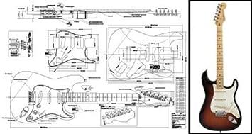 Plan de Fender Stratocaster Guitarra eléctrica - escala completa impresión