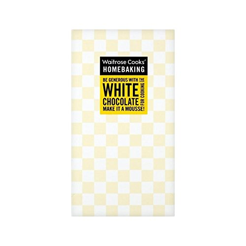 Cooks' Ingredients Single Origin White Chocolate Waitrose 150g - Pack of 2 by Cooks' Ingredients